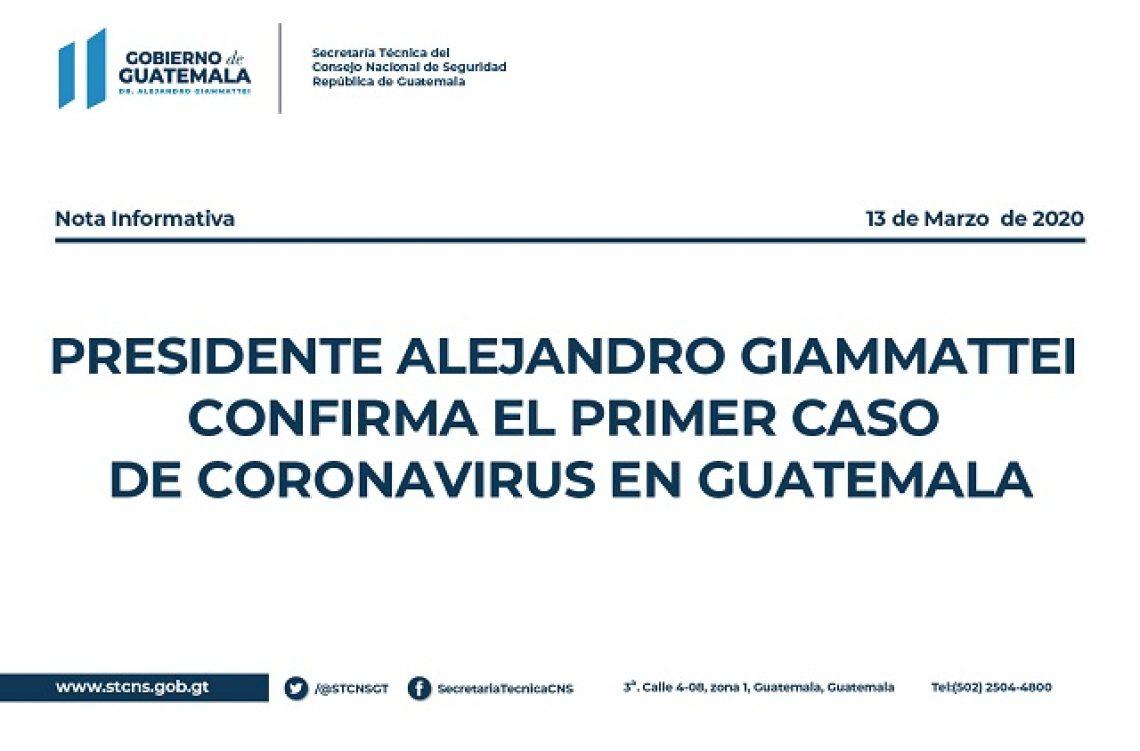 Coronavirus 1er Caso en Guatemala